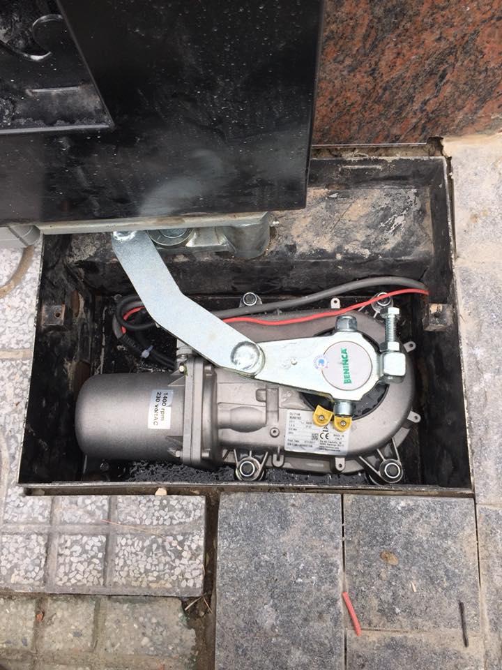 Lắp đặt Motor Cửa Cổng Mở Cánh Âm Sàn Beninca